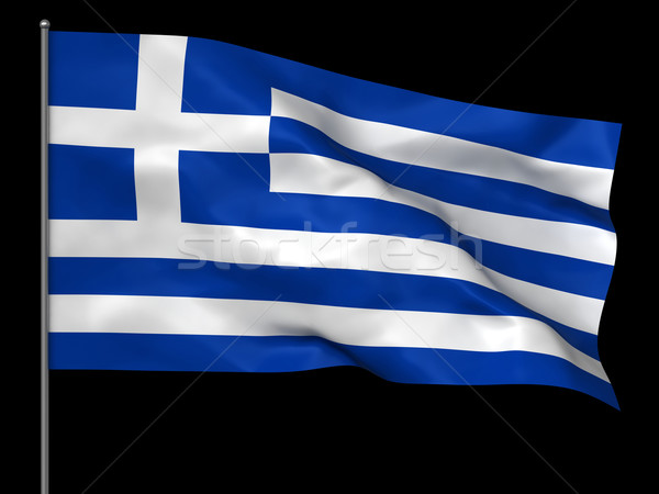 Greek flag Stock photo © oorka