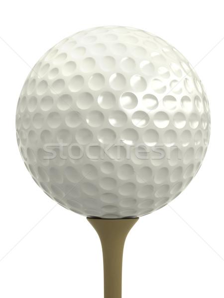 Golflabda 3d render izolált fehér golf szabadidő Stock fotó © oorka