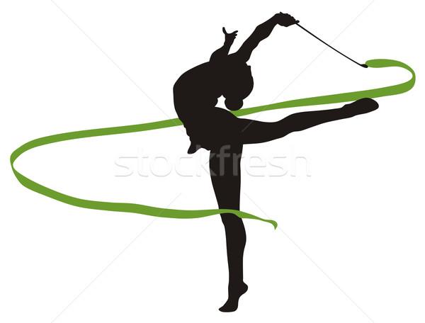 Stock fotó: Ritmikus · gimnasztikai · absztrakt · illusztráció · nők · sport