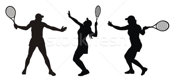 Tenisz absztrakt nő sport bíróság lövés Stock fotó © oorka