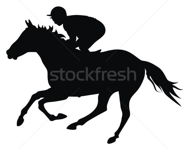 Lóverseny absztrakt sport ló fut útvonal Stock fotó © oorka