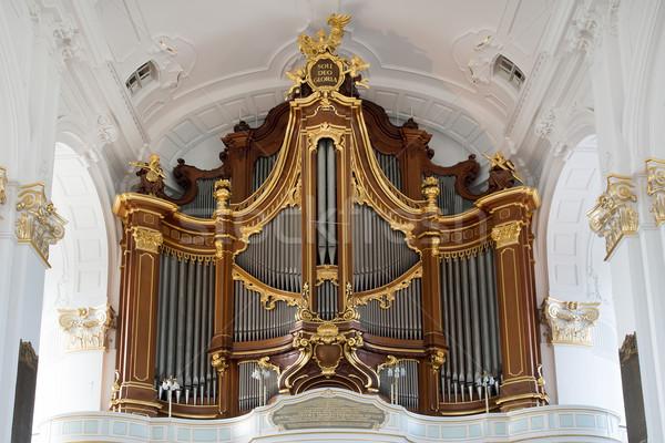 Organ kilise hamburg Almanya Bina Avrupa Stok fotoğraf © oorka