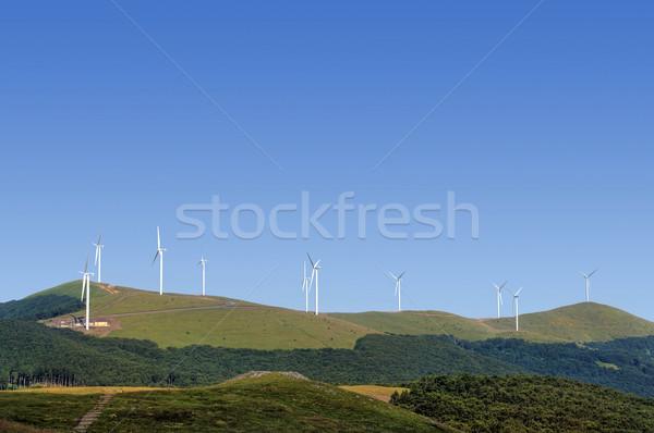 Wind turbines Stock photo © oorka