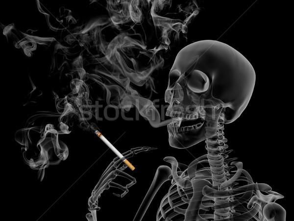 Fumare rendering 3d effetti nicotina fumo morte Foto d'archivio © oorka