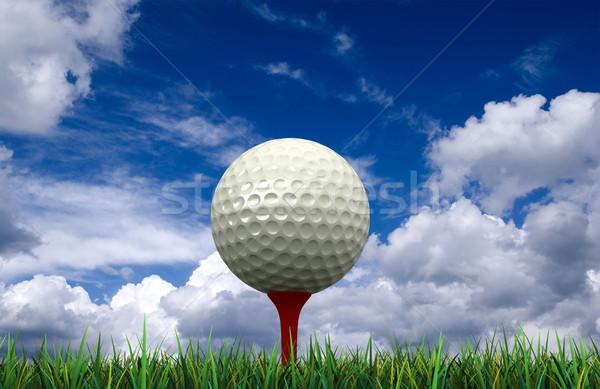 Golflabda 3d render fű labda szabadidő gömb Stock fotó © oorka