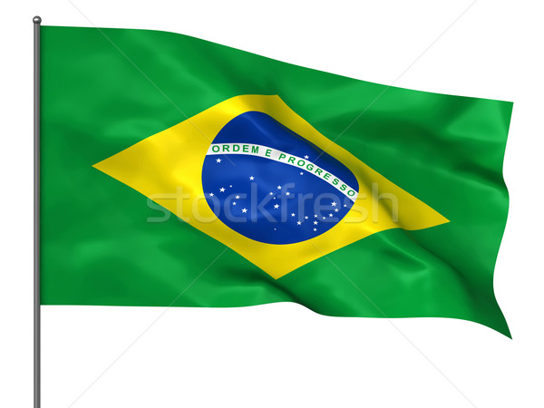 Brazilian flag Stock photo © oorka