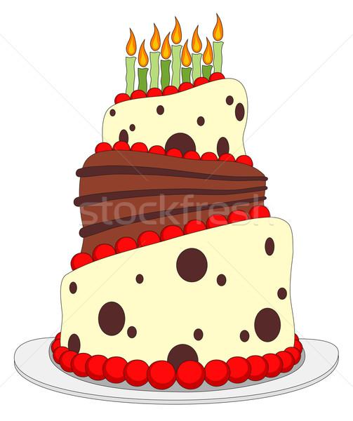 именинный торт Cartoon стиль вечеринка аннотация торт Сток-фото © oorka