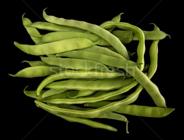 Zöldbab izolált fekete étel kert zöld Stock fotó © oorka