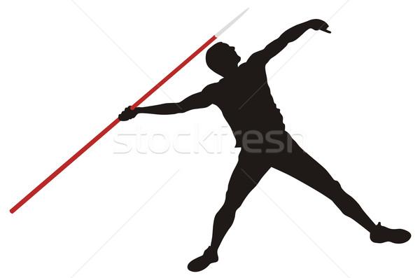 Javelin thrower Stock photo © oorka