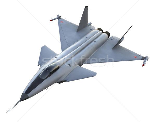 Repülőgép vadászrepülő 3d render orosz háttér repülőgép Stock fotó © oorka