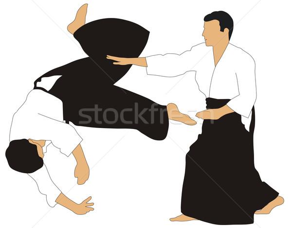 Aikido gösteri sanat asker Japon Stok fotoğraf © oorka