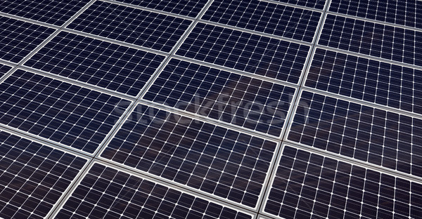 Painéis solares tornar verde elétrico moderno Foto stock © oorka
