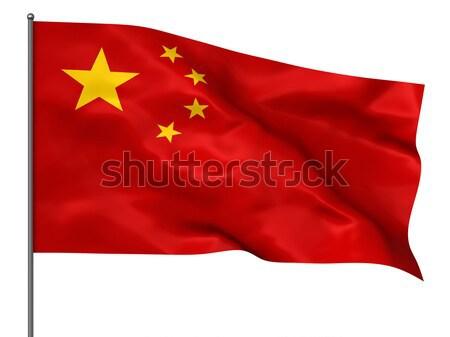 Chinese flag Stock photo © oorka