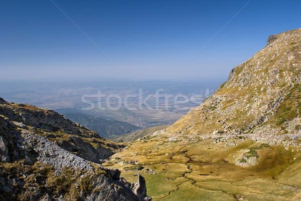Hegy kilátás csúcs tájkép kék Stock fotó © oorka
