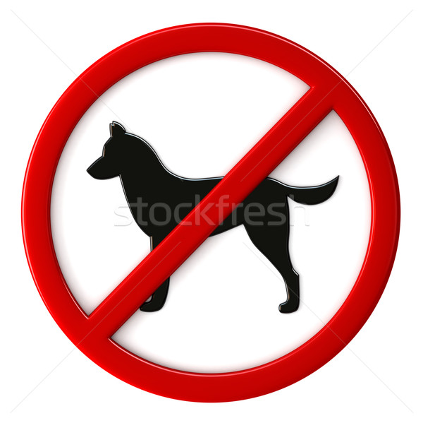 Dogs not allowed Stock photo © oorka