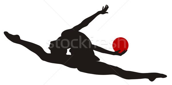 Ritmisch abstract vrouwen sport bal Stockfoto © oorka