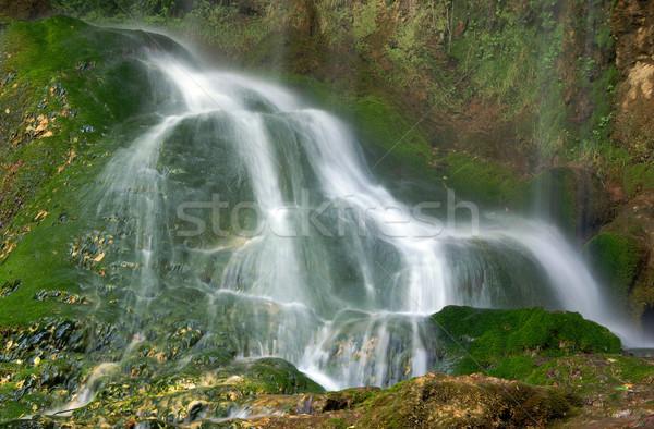 Cascate cascata acqua verde cascata rocce Foto d'archivio © oorka