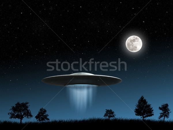 Flying saucers Stock photo © oorka