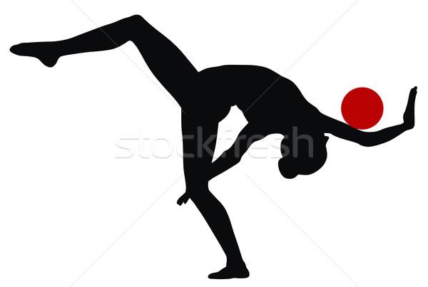 Ritmikus gimnasztikai absztrakt illusztráció nők sport Stock fotó © oorka