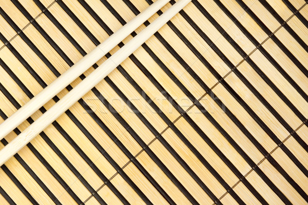 Eetstokjes bamboe diner japans sushi garnalen Stockfoto © oorka