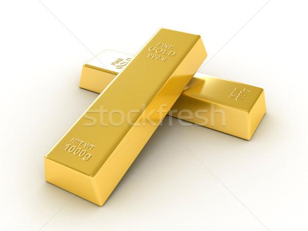 Arany bár bank fehér ékszer kincs Stock fotó © oorka