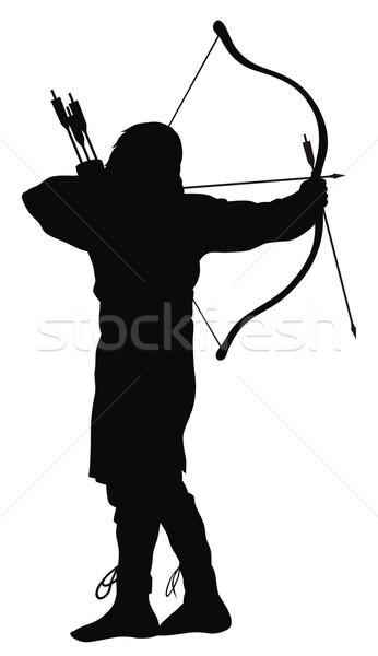 лучник аннотация древних спорт солдата Сток-фото © oorka