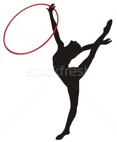 Rhythmic gymnastic Stock photo © oorka