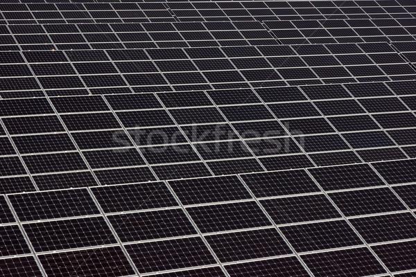 Naprendszer zöld energia zöld elektromos modern nap Stock fotó © oorka