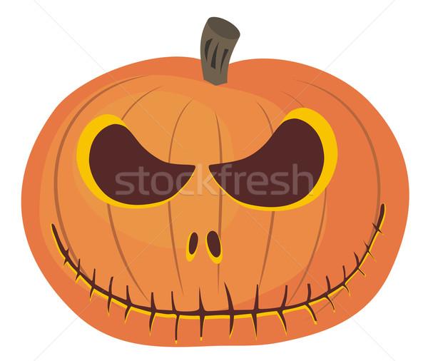 Halloween streszczenie szczęśliwy cartoon ilustracja Zdjęcia stock © oorka