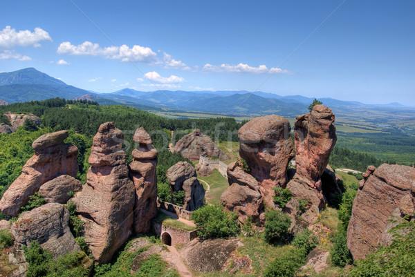 Bulgária kövek tájkép hegy kő kastély Stock fotó © oorka