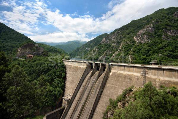 Muur uitrusting beton water meer macht Stockfoto © oorka