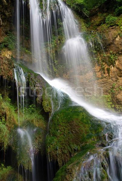 Vízesések vízesés víz zöld vízesés kövek Stock fotó © oorka