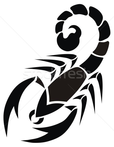 Scorpion résumé signe animaux tribales vecteur Photo stock © oorka