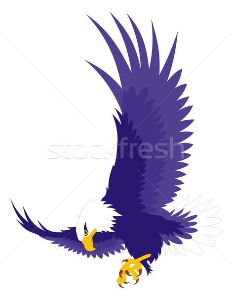 Stockfoto: Adelaar · abstract · vogel · silhouet · vleugels · grafische