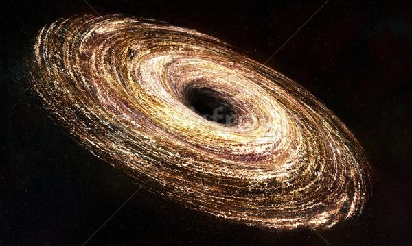Trou noir ordinateur généré étoiles lumière fond Photo stock © oorka