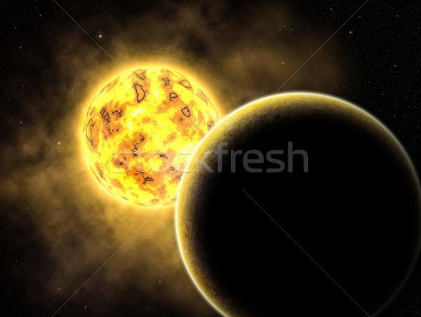宇宙 実例 幻想的な スペース シーン 太陽 ストックフォト © oorka