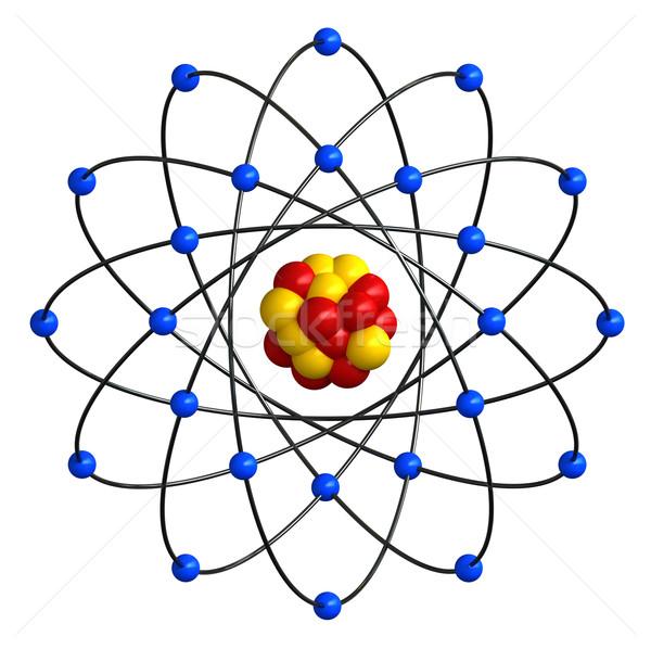 Atomique structure rendu 3d résumé éducation blanche Photo stock © oorka