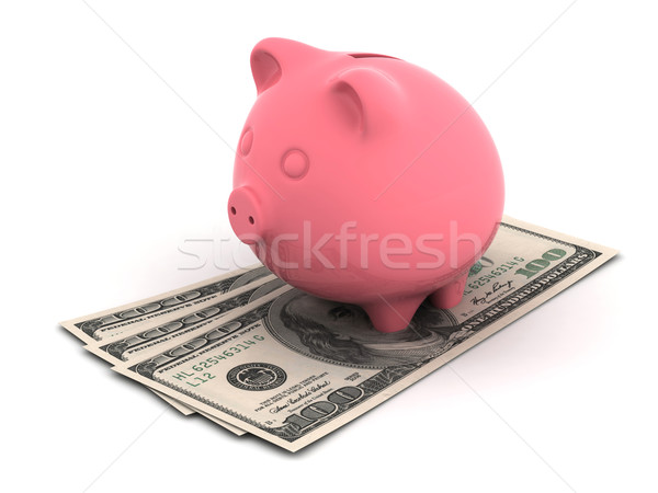 Pig money box Stock photo © oorka