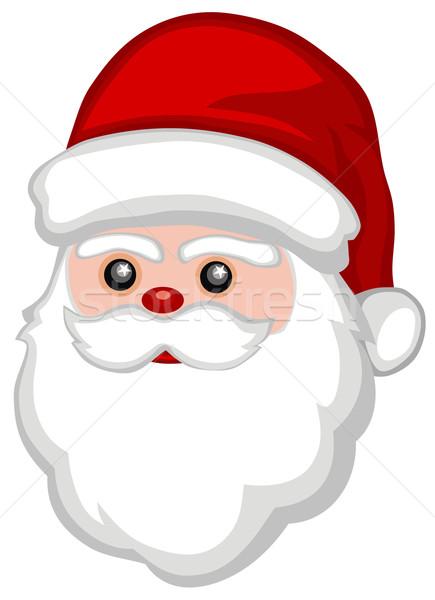 Papai noel abstrato engraçado cara natal desenho animado Foto stock © oorka