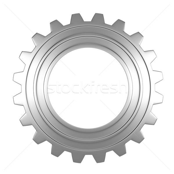 Viselet 3d render fehér technológia háttér ipari Stock fotó © oorka