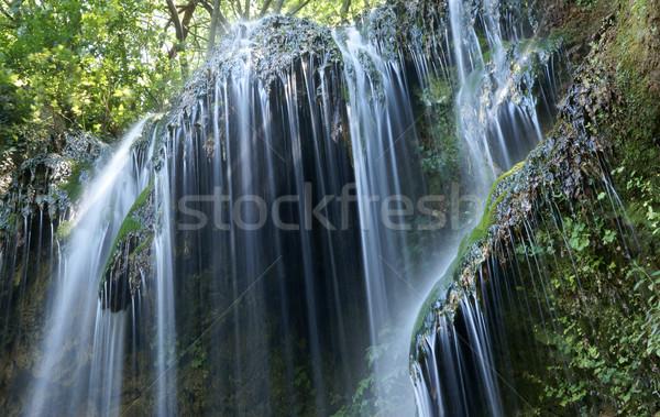 Vízesések vízesés Bulgária zöld vízesés kövek Stock fotó © oorka