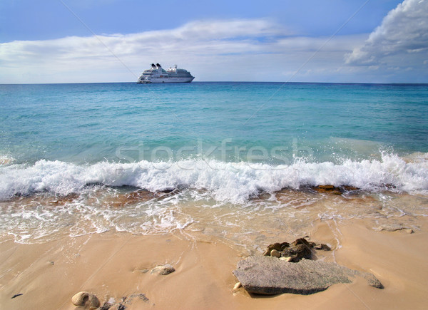 クルーズ船 アンカー カリビアン 海 海 船 ストックフォト © oorka