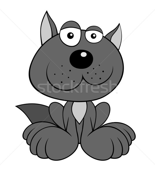 Loup couleur cartoon style Kid animaux Photo stock © oorka