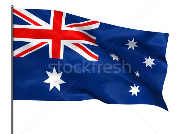 Australiano bandera aislado blanco fondo Foto stock © oorka