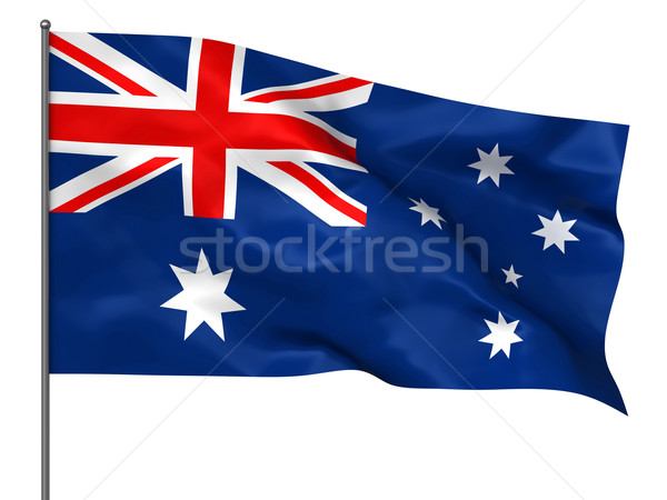 Avustralya bayrak yalıtılmış beyaz arka plan Stok fotoğraf © oorka