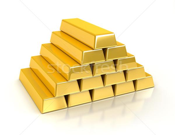 Gold bullions Stock photo © oorka