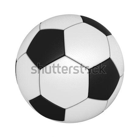 Futballabda 3d render izolált fehér sport futball Stock fotó © oorka