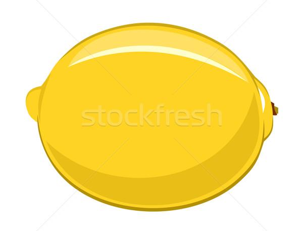 Citrom citromsárga friss egészséges vektor illusztráció Stock fotó © oorka
