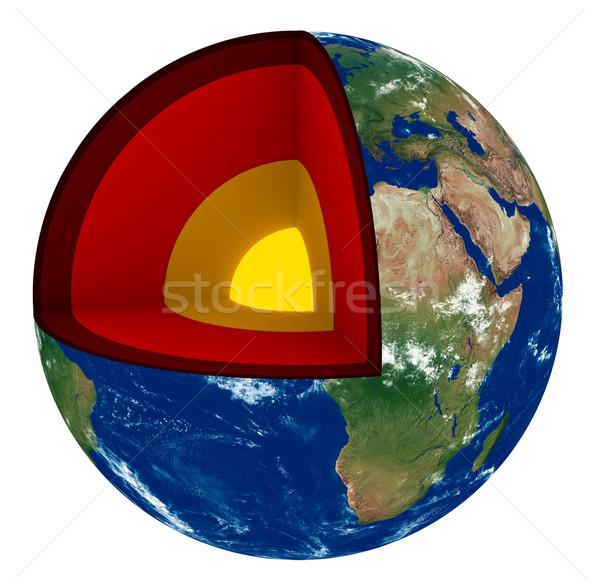 Сток-фото: земле · 3d · визуализации · поперечное · сечение · внутренний · структуры