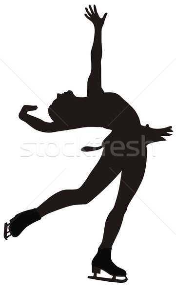 Patinaje artístico resumen mujer mujeres deporte patinaje Foto stock © oorka